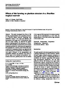 Effects of fish farming on plankton structure in a Brazilian tropical ...