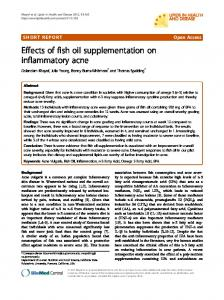 Effects of fish oil supplementation on inflammatory acne - BioMedSearch