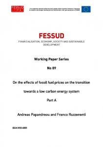 Effects of fossil fuel prices on the transition to a low-carbon ... - FESSUD