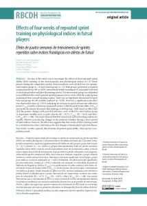 Effects of four weeks of repeated sprint training on ... - SciELO