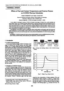 Effects of Fuel and Coolant Temperatures and Neutron Fluence on ...