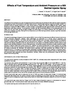 Effects of Fuel Temperature and Ambient Pressure on a ... - CiteSeerX