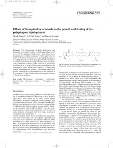 Effects of furoquinoline alkaloids on the growth and ... - Springer Link