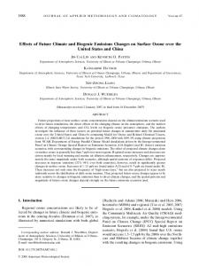 Effects of Future Climate and Biogenic Emissions Changes on Surface ...