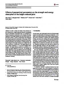Effects of geometrical parameters on the strength and ... - Springer Link