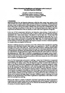 Effects of Geometrical Simplification and Idealization on ... - CiteSeerX