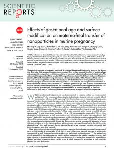 Effects of gestational age and surface modification ... - Semantic Scholar