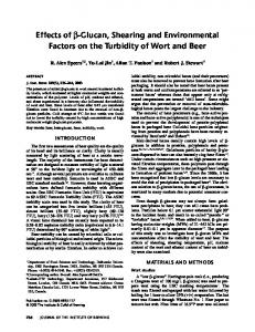 Effects of Glucan, Shearing and Environmental ... - Wiley Online Library