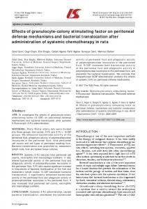 Effects of granulocyte-colony stimulating factor on ... - CiteSeerX