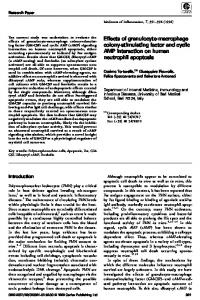 Effects of granulocyte-macrophage colony-stimulating factor and cyclic