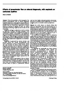 Effects of groundwater flow on mineral diagenesis, with ... - Springer Link