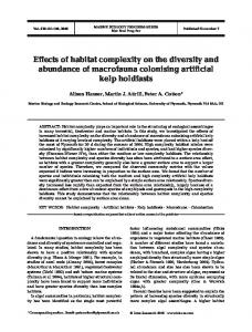Effects of habitat complexity on the diversity and abundance of ...