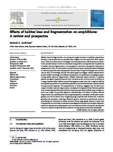 Effects of habitat loss and fragmentation on amphibians - Forest Service