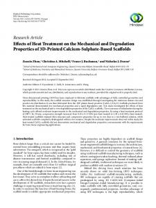 Effects of Heat Treatment on the Mechanical and Degradation ...