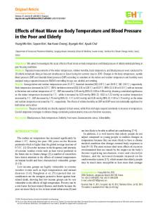 Effects of Heat Wave on Body Temperature and
