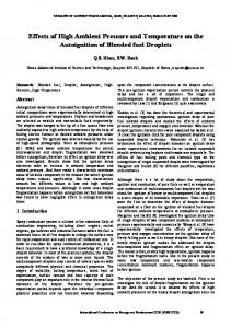 Effects of High Ambient Pressure and Temperature on ...