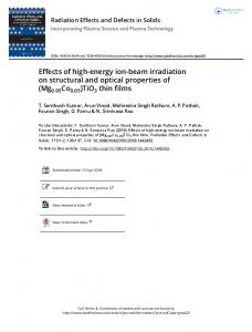 Effects of high-energy ion-beam irradiation on ...