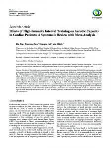 Effects of High-Intensity Interval Training on Aerobic Capacity in ...