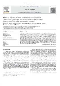 Effects of high temperature and exposure to air on ...