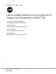 Effects of High-Temperature Exposures on the ...