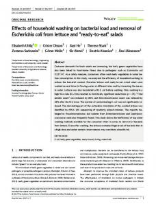Effects of household washing on bacterial load ... - Wiley Online Library
