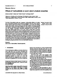 Effects of hydrocolloids on acorn starch physical