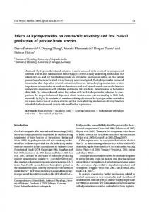 Effects of hydroperoxides on contractile reactivity