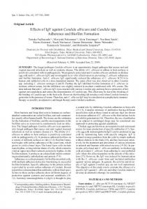Effects of IgY against Candida albicans and Candida spp. Adherence ...