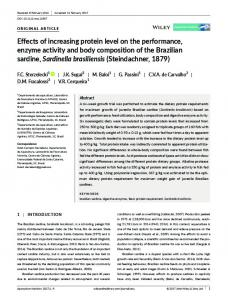 Effects of increasing protein level on the ... - Wiley Online Library