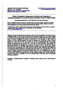 Effects of Incubation Temperature on Growth and ... - Semantic Scholar