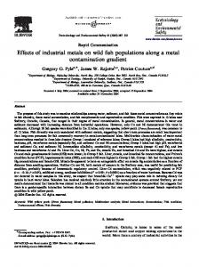 Effects of industrial metals on wild fish populations ...