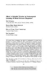 Effects of inhaled nicotine on instrumental learning ... - Semantic Scholar