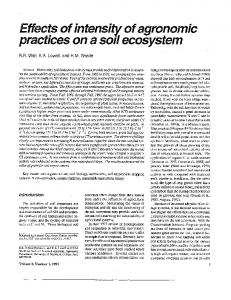 Effects of intensity of agronomic practices on a soil ... - Enst.umd.edu