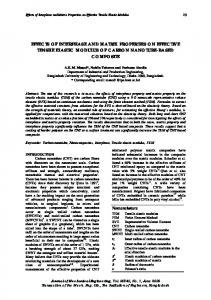 effects of interphase and matrix properties on