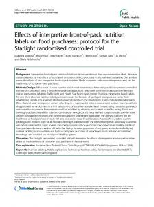 Effects of interpretive front-of-pack nutrition labels on ... - BioMedSearch