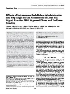 Effects of intravenous gadolinium administration ... - Wiley Online Library