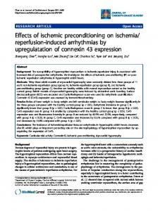 Effects of ischemic preconditioning on ischemia ... - CiteSeerX
