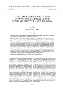 effects of labour migration on economic development during economic ...