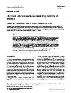 Effects of Labrasol on the corneal drug delivery of baicalin