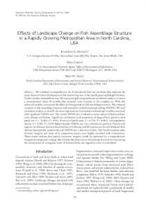 Effects of Landscape Change on Fish Assemblage Structure in a ...