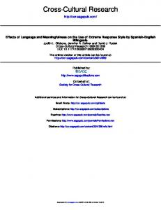 Effects of Language and Meaningfulness on the Use ...