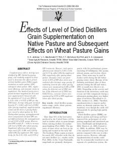 Effects of Level of Dried Distillers Grain Supplementation on Native ...