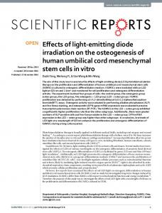 Effects of light-emitting diode irradiation on the ... - Semantic Scholar