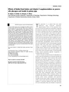 Effects of limited food intake and vitamin C ... - CiteSeerX