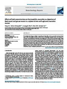 Effects of lipid concentration on thermophilic anaerobic co-digestion of ...