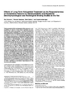 Effects of Long-Term Haloperidol Treatment on the Responsiveness of ...