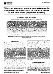 Effects of long-term spectral deprivation on the ...