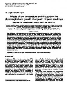 Effects of low temperature and drought on the ... - CiteSeerX