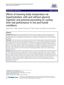 Effects of lowering body temperature via ... - BioMedSearch