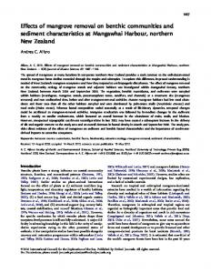 Effects of mangrove removal on benthic communities ... - Oxford Journals
